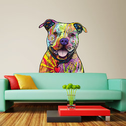My Wonderful Walls - Beware of Pit Bulls Wall Sticker - Decal Pop Out, Small - - Beware of Pit Bulls graphic by Dean Russo