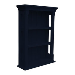 EuroLux Home - New Wall Cabinet Black Painted Hardwood Open - Product Details