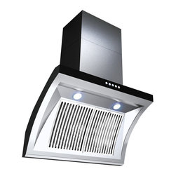 GOLDEN VANTAGE - GV 30-Inch Stainless Steel Wall Range Hood W/Unique Slope Design - Our Contemporary Europe design range hoods capture the most pollutants, grease, fumes, cooking odors in a quiet way but maintain a strong CFM From 300-900 depends on the style or model you choose. GV products not only provide top notch quality of material, we also offer led lighting, quiet chamber blower,adjustable telescopic chimney. All of our range hoods can convert to ventless/ductless options if outside exhaust not permitted.