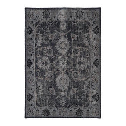 Kaleen Rugs - Restoration Black and Brown Rectangular: 5 Ft. 6 In. x 8 Ft. 6 In. Rug - - The Restoration collection puts the finishing touches on a classic reproduction for some of the most unique rugs in the world. Hand-knotted in India of 100% wool, each rug is intentionally distressed by hand-shearing for authenticity, over-dyed colors for beautiful style, and complete with the smallest little details for the perfect replica of a vintage antique rug. A 100% natural green product and completely free of any latex materials  - Classic Reproduction  - Hand-Knotted Antique Replica  - Pile Height: 0.12-Inch  - Square Feet: 46.75  - Cleaning/Care: Spot clean as needed or for best results please contact a local area rug cleaning professional  - Detailed Rug Colors: Midnight, Mocha and Olive Kaleen Rugs - RES02-02-5686