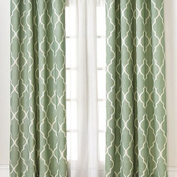 Elrene Medalia Panel, Spa - Drapes instantly soften a newly rented space and provide a pop of color. They can also be hung to separate areas in a studio apartment that is lacking privacy.