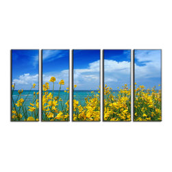 Vibrant Canvas Prints - Canvas Art Prints, Framed 3 Panel Autumn Leavesand Decor on Canvas Photo Print - This is a beautiful, 100% quality cotton canvas print. This print is perfect for any home or office, and will make any room shine with its addition of color and beauty.  - Free Shipping - Modern Home and Office Interior Decor   Beach Canvas Designs - 5 Panel Print   Sea Beach Plant Nature Print on Canvas - Wall Art - 30 Day Money Back Guarantee.