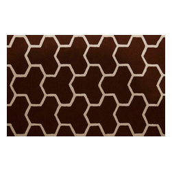 Safavieh - Georges Hand Tufted Rug, Dark Brown / Ivory 4' X 6' - Construction Method: Hand Tufted. Country of Origin: India. Care Instructions: Vacuum Regularly To Prevent Dust And Crumbs From Settling Into The Roots Of The Fibers. Avoid Direct And Continuous Exposure To Sunlight. Use Rug Protectors Under The Legs Of Heavy Furniture To Avoid Flattening Piles. Do Not Pull Loose Ends; Clip Them With Scissors To Remove. Turn Carpet Occasionally To Equalize Wear. Remove Spills Immediately. Bring classic style to your bedroom, living room, or home office with a richly-dimensional Safavieh Cambridge Rug. Artfully hand-tufted, these plush wool area rugs are crafted with plush and loop textures to highlight timeless motifs updated for today's homes in fashion colors.