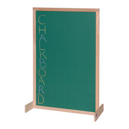 Steffywood - Steffywood Kids School Classroom Two Position Chalkboard Room Divider - Unit has chalkboard on two sides.  Frame is constructed of solid hardwood.  Feet can be mounted for either vertical or horizontal position.