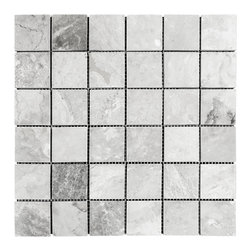 STONE TILE US - Stonetileus 10 pieces (10 Sq.ft) of Mosaic Silver 2x2 Polished - STONE TILE US - Mosaic Tile - Silver 2x2 Polished Coverage: 1 Sq.ft size: 2x2 - 1 Sq.ft/Sheet Piece per Sheet : 36 pc(s) Tile size: 2x2 Sheet mount:Meshed backwhite - Black - silver - light gray - dark gray - high variation, The beauty of this natural stone Mosaic comes with the convenience of high quality and easy installation advantage. This tile has Polished surface, and this makes them ideal for kitchen, bathroom, outdoor, Sheets are curved on all four sides, allowing them to fit together to produce a seamless surface area. Recommended use: Indoor - Outdoor - High traffic - Low traffic - Recommended areas: Silver 2x2 Polished tile ideal for walls, kitchen, bathroom,Free shipping.. Set of 10 pieces, Covers 10 sq.ft.
