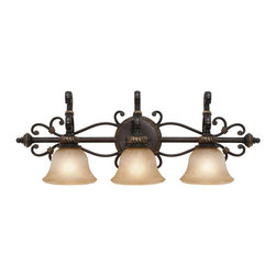 Golden Lighting - Jefferson 3-Light Vanity - Old world charm meets modern decor