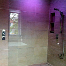 Contemporary Showers Master bath renovation