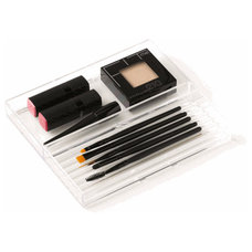 Makeup Pencils & Brushes Cosmetics Tray - 2 Section | Organize.com