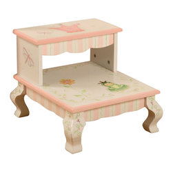 Teamson Design - Teamson Kids Princess and Frog Crown Hand Painted Kids Step Stool - Teamson Design - Step Stools - W7470A. This Hand Painted Crown Step Stool brings a New uniqueness and hand crafted eloquent design to any room. The hand carved designs will light up your little ones smile and be pleasant for years to come.