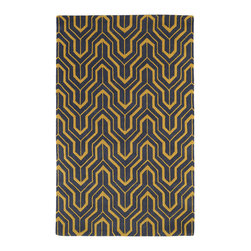 Kaleen - Kaleen Revolution Collection REV01-28 2' x 3' Yellow - The color Revolution is here! Trendy patterns with a fashion forward twist of the hottest color combinations in a rug collection today. Transform a room with the complete color makeover you were hoping for and leaving your friends jealous at the same time! Each rug is hand-tufted and hand-carved for added texture in India, with a 100% soft luxurious wool.