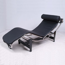 Modern Classics - Le Corbusier: Chaise Lounge Reproduction -Leather - Features: