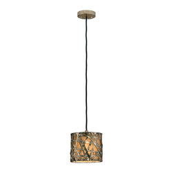 Uttermost - Alita Champagne, Mini Metal Hanging Shade - Silver leaf metal strips with black dry brushing and antique stain.
