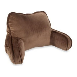 Brentwood Originals - Plush Backrest in Chocolate - Plush backrest is perfect for sitting up in bed to watch television, read a book or play video games. It's generously filled for comfort, and there's a pocket on the side for convenience and a handle on top for easy transporting.