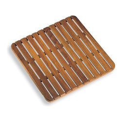 """WS Bath Collections - Tapie Shower Mat - Tapie by WS Bath Collections Shower Mat 23.6 x 23.6"""" in Teak Wood, Made in Italy"""