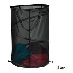 Richards Homewares - Spiral Micro Mesh Pop Up Hamper - Make doing your laundry convenient with this spiral mesh pop-up hamper. When not in use,you can pack this hamper down flat for easy storage.