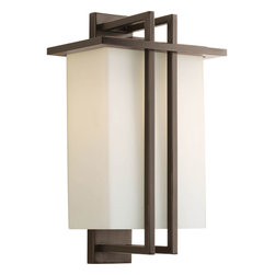 """Progress Lighting - Progress Lighting P5991-20 One-Light Medium Wall Lantern (10"""") With Opal Etched - One-light Medium Wall Lantern (10"""")"""