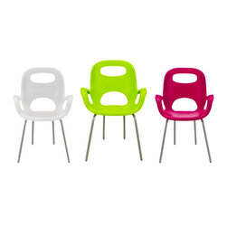 Oh Chair - This outdoor chair, designed by Karim Rashid is fun, comfortable and stylish. I like the shape with armrests and open back to keep you cool in the summer. I also like the sassy colors they come in. Since they're stackable, they're also great to have in numbers to pull out for parties or that time when half the neighborhood shows up unexpectedly. I know my ugly plastic stackables should be replaced immediately.