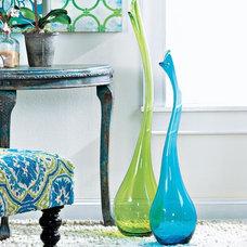 Tropical Vases Swan Neck Vase