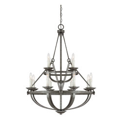 Savoy House - Savoy House 1-6001-12-285 Epoque 12 Light Chandelier - From The Epoque collection, This twelve-light chandelier is industrial chic with wire suspension cables and a Textured Antique Nickel finish.