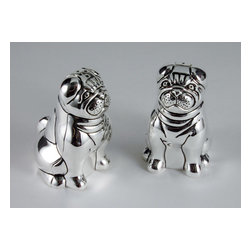 "Godinger Silver - Animial Salt And Pepper Shaker - Make seasoning a breeze with this set of two pug salt and pepper shakers! Its touch of elegance makes it an all time favorite. This set can make a housewarming gift for a friend too! This salt and pepper shaker set will surely add the perfect finishing touch to your table! Dimensions: Height 3"" Width 2.5""."