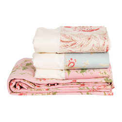 Emily Madison Canvas Shower Curtains - Bring a little feminine whimsy to your bath with a floral shower curtain from Emily Madison. They're available in three different sweetly rendered prints.