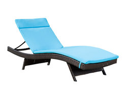 Great Deal Furniture - Single Blue Cushion Pad For Outdoor Chaise Lounge Chair - Made of water-resistant fabric designed to withstand the elements, this cushion was designed to perfectly fit our adjustable outdoor chaise lounge chair. (Chaise lounge chair is not included)