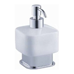 Fresca - Fresca Solido Lotion Dispenser (Free Standing) - Chrome - All of our Fresca bathroom accessories are made with brass with a triple chrome finish and have been chosen to compliment our other line of products including our vanities, faucets, shower panels and toilets.  They are imported and selected for their modern, cutting edge designs.