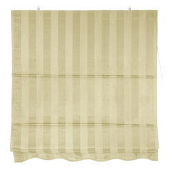 Oriental Furniture - Striped Roman Shades - Cream - (72 in. x 72 in.) - A simple, beautiful window treatment that's both easy to install and easy to operate. Roman style window blinds are installed right on the wood frame of the window sash, not inside the frame.