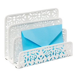 Brocade Letter Sorter - A desk organizer lets you sort incoming mail by category.