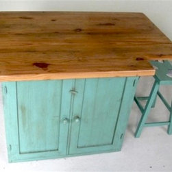 Custom Kitchen Island With Base Cabinet - Made by http://www.ecustomfinishes.com
