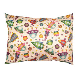 """A Little Pillow Company - A Little Pillow Company: Toddler Pillowcase (Envelope Style), Rockets - Wrap """"A Little Pillow Company"""" pillow in only the best!  This envelope-style toddler pillowcase is Made in the USA from a 100% soft cotton fabric."""