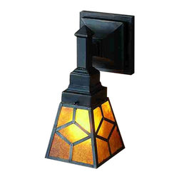 Meyda Tiffany - Meyda Tiffany Sconces Wall Sconce in Mahogany Bronze - Shown in picture: Amber Mica Diamond Mission Wall Sconce; A Handsome Mission Style Shade With Diamond Pattern - Glows With Amber Mica Panels Created In The Same Method Of Combining Translucent Mica With Shellac Utilized By Dirk Van Erp In 1910. This Mission Style Wall Sconce - With Mahogany Bronze Hand Finished Metal - Will Warm Your Home With The Radiant Amber Panels.