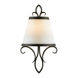 Feiss - Feiss WB1486BK Peyton Collection Black Wall Sconce - Feiss WB1486BK Peyton Collection Black Wall Sconce
