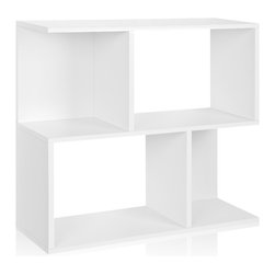 Way Basics - Way Basics Soho Bookcase and Shelf, White - This shelf system puts the fun back in functional. Use it for storage or display, as a bookcase, bar or room divider. Made from recycled paper, it fits together with adhesive strips, so no tools are required. Plus it's free of formaldehyde and VOCs, making it the perfect green solution for your organizational needs.
