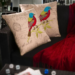 Christopher Knight Home - Christopher Knight Home Embroidered Bird Pillows (Set of 2) - This set of two pretty embroidered pillows brings a reminder of the natural world into your home. Use these square polyester pillows on your bed or sofa to give the room a new look. A hidden zipper lets you easily remove the covers for cleaning.