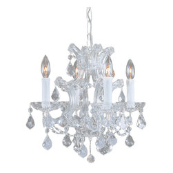 Crystorama - Maria Theresa Chandelier, Small - Your glamor knows no bounds — but your space, alas, does? This petite yet impressive chandelier brings all the sparkle and drama you crave for your smaller formal setting.
