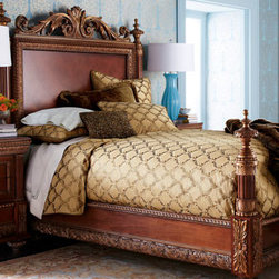 """Dian Austin Couture Home - Dian Austin Couture Home King Roma Duvet Cover, 108"""" x 95"""" - Exclusively ours. """"Roma"""" lattice-embroidered bed linens come in your choice of colors. Handcrafted in the USA of imported polyester/rayon with polyester taffeta backing. By Dian Austin Couture Home®. Dry clean. For embroidered linens, select col..."""
