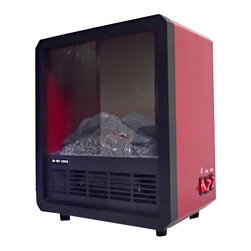 Proman Products - Proman Products Aspen 12 Inch Fireplace - Free Standing - Aspen collection fireplace s1214, log fire effect, free standing 675/1350W, 12W x 13.5H x 7D, red color, 12 lbs