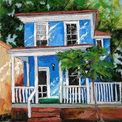 Roweboat Art Inc. - Ellewood Avenue, Fine Art Reproduction, 24X30 - Original painting reproduction