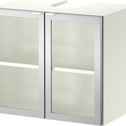 IKEA of Sweden - LILLÅNGEN Sink base cabinet with 2 doors - Sink base cabinet with 2 doors, white, aluminum
