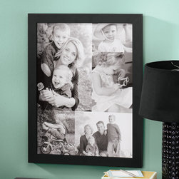 """Exposures - Custom 5 Photo Collage Canvas 11 x 17 Unframed - Overview Send us five photos Black & White or Color, Horizontal or Vertical, up to 8"""" x 10"""" and we will design a photo collage for you. Your photos will be reproduced on canvas, stretched over a black wood frame, ready for hanging. Available in Sepia, Color or Black & White. Large unframed canvas measures 24"""" x 18"""". Please allow 3 extra weeks for delivery. Sorry, no gift boxing.  No returns on personalized items unless the item is damaged or defective."""