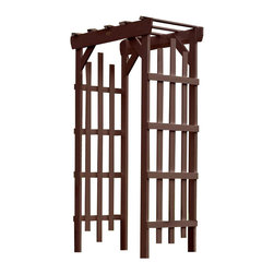 Phat Tommy - Eco-Friendly Arbor in Acorn - If you seek the natural look of wood, but would like a product that can be left outside year after year without the maintenance headaches of real-wood, then Highwood is for you. These pieces are a beautiful, elegant and durable choice for your outdoor living space.