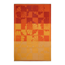 Indoor/Outdoor Tahiti Rug, Orange & Yellow, 4x6