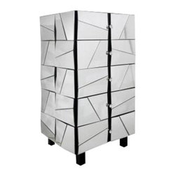 Modrest - Modrest Gosford Mirrored Chest - Beveled Mirror Surface
