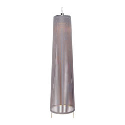 "Solis 48"" Free Standing Lamp in Silver - Features:"