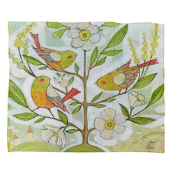DENY Designs - Cori Dantini Community Tree Fleece Throw Blanket - This DENY fleece throw blanket may be the softest blanket ever! And we're not being overly dramatic here. In addition to being incredibly snuggly with it's plush fleece material, it's maching washable with no image fading. Plus, it comes in three different sizes: 80x60 (big enough for two), 60x50 (the fan favorite) and the 40x30. With all of these great features, we've found the perfect fleece blanket and an original gift! Full color front with white back. Custom printed in the USA for every order.