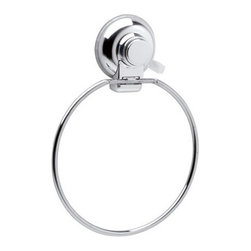 Gedy - Towel Ring With Suction Cup Mounting and Chrome Finish - Part of the Gedy Hot collection, this towel holder is essential. Made in Italy by Gedy, a quality, contemporary towel holder that will fit perfectly into contemporary & modern settings. Made in steel and available in chrome. This is ONLY able to mount to