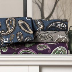 None - Paisley 100-percent Cotton Flannel Sheet Set or Pillowcase Separates - This flannel sheet set features a paisley pattern in your choice of Navy,purple and grey. Made of 100-percent cotton,this flannel will bring the comforts of a warm log cabin to your bedroom every night.
