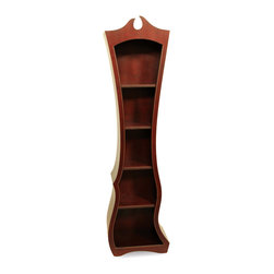 Bookcase No. 10 - Tall and graceful, Bookcase No. 10 allows you to showcase Dust Furniture's style in a subtle way in your home. The lower half of the piece has movement, leading the upward to the slender section in the middle area of the piece. The form is simple from here, gradually drawing the eye to the top of the piece, where the crown features the traditional keyhole design. Incorporating much of the elements of traditional furniture, yet with the graceful movement that sets a Dust piece apart, this bookcase will be a welcome addition to your living space. Add a few decorative books or pieces of artwork, and you will have a conversation piece. The traditional designs of this piece lend themselves to conservative, traditional colors, but you can create a bold statement by choosing a more vibrant hue from our color page. Simply let us know your choice when you check out to have your design made to order in the color that matches your needs best. Incorporating much of the elements of traditional furniture, yet with the graceful movement that sets a Dust piece apart, this bookcase will be a welcome addition to your living space. Add a few decorative books or pieces of artwork, and you will have a conversation piece.Â