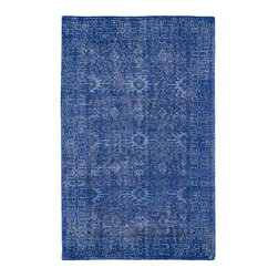 Kaleen Rugs - Restoration Blue Rectangular: 5 Ft. 6 In. x 8 Ft. 6 In. Rug - - The Restoration collection puts the finishing touches on a classic reproduction for some of the most unique rugs in the world. Hand-knotted in India of 100% wool, each rug is intentionally distressed by hand-shearing for authenticity, over-dyed colors for beautiful style, and complete with the smallest little details for the perfect replica of a vintage antique rug. A 100% natural green product and completely free of any latex materials  - Classic Reproduction  - Hand-Knotted Antique Replica  - Pile Height: 0.12-Inch  - Square Feet: 46.75  - Cleaning/Care: Spot clean as needed or for best results please contact a local area rug cleaning professional  - Detailed Rug Colors: Navy Kaleen Rugs - RES04-17-5686